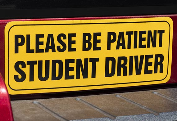 Bumper stickers used to convey messages and advisories