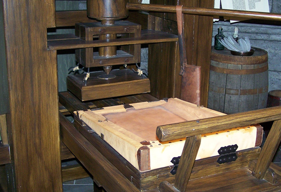 Printer history and evolution Gutenberg press