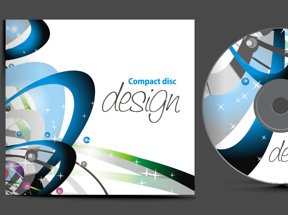 Printed CD design and duplication with insert