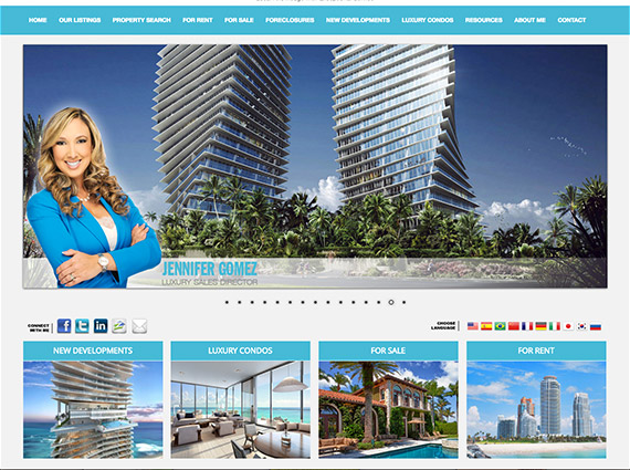 Real estate agent branded website