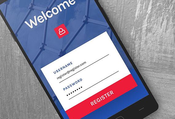Customer rewards mobile phone registration