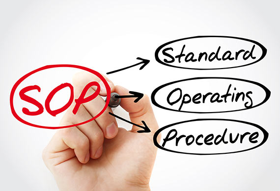 SOP development writing and implementation for improved organizational standards