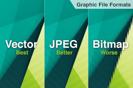 vector jpeg bitmap file formats for graphic design and printing