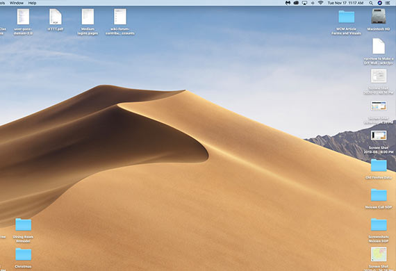 Organize the files and icons on your desktop to gain more efficiency