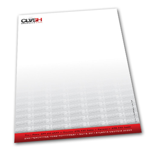 Our 8.5x11 linen letterhead is printed on 30% recycled with a textured feel. Or we have a  70lb Cougar smooth sheet option next day rush service.