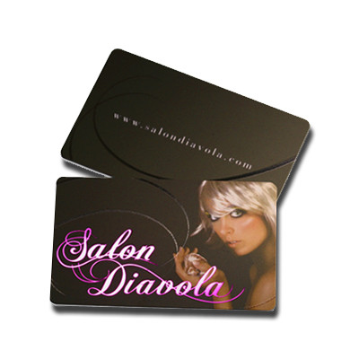 Full color plastic business card printing in atlanta shipping nationwide. Full color business card printing on 20mil white plastic card stock.