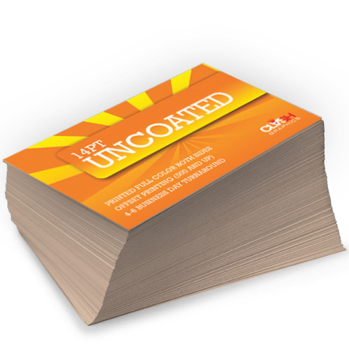 14pt Uncoated Matte Card Stock Clash Graphics