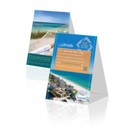 Whether it is for special promotions, restaurant menus, or informational purposes, Table Tents are a direct form of advertising directly to your customers. Available in two popular sizes, Table Tents will allow you to effectively communicate with your customers with ease. To save you shipping and time, they are shipped flat and are extremely simple to assemble!