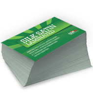 Silk Satin Laminated Business Cards
