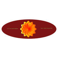 3.25 X 7.5 Oval Sticker