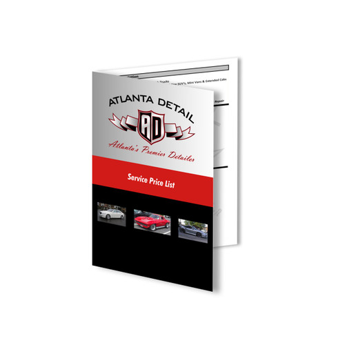 4.25 x 5.5 Brochure printed in 4-6 days on 100lb gloss text paper with aqueous coating
