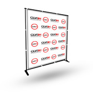 8'X8' Step & Repeat Vinyl Banner with Stand