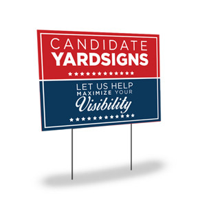 Clash Graphics full color yard signs are printed on 4mm coroplast material and ready for pick up in 4-7 business days. The H-Stakes are sold separately.