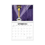 11 x 8.5 - 38 Page Wall Calendar w/ Spiral Binding