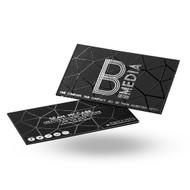 22Pt Black Suede Onyx Business Cards