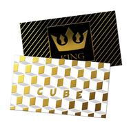 Raised Foil Suede Business cards