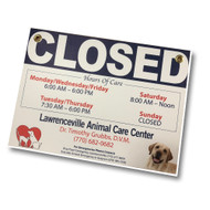 "15"" X 11"" PVC Custom Printed Closed Sign"