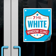 Window clings are great for promoting your business! Easy to remove and move around with no sticky residue left behind on the window.