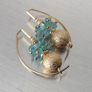 Apatite Spray with 14K Gold Filled Earring