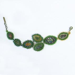 Beaded Leaf Bracelet
