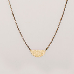 Mottled Half Moon Necklace