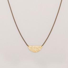 Mottled Half Moon Necklace