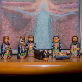 Small Wooden Nativity Set