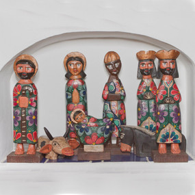 Large Wooden Nativity Set