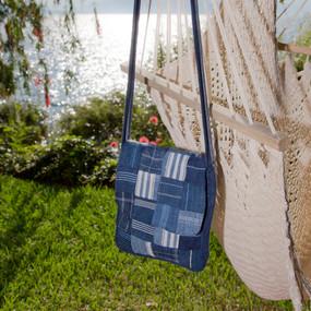 Blue Corte Patch Shoulder Bag