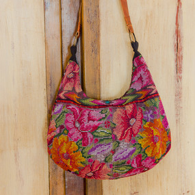 Chichi Shoulder Bag with Leather Strap