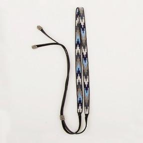 Loomed Beaded & Leather Headband
