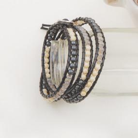 Stone Triple Wrap Bracelet