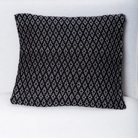 Black & White Brocade Pillow Cover