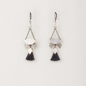 Half Moon Tassel Earrings