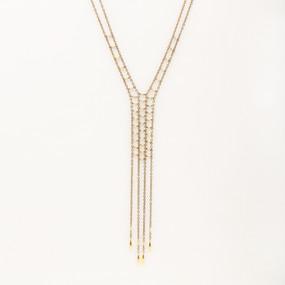 Faceted Metal Fringe Necklace