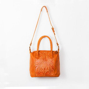 Tooled Leather Day Bag