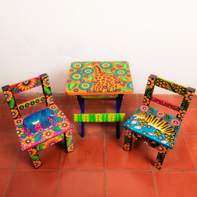 Wooden Painted Childrens Chair