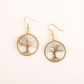 Moonlit Moonstone Tree Earring