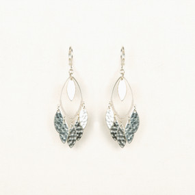 Hammered Leaf Chandelier Earring
