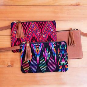 Leather & Textile Wristlet