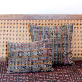 Double Sided Earth Tone Brocade Pillows