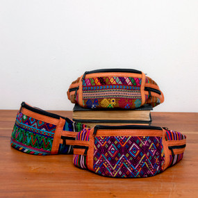 Handwoven & Leather Waistpack