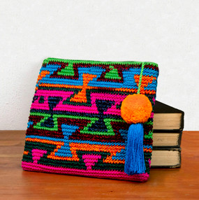 Crocheted Clutch with Tassel