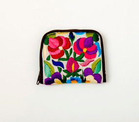 Embroidered Zip Wallet
