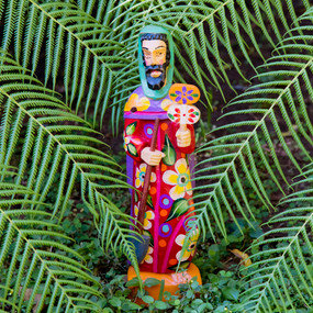 Outdoor Saint Fiacre Gardener Statue