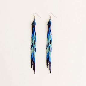 Beaded Fringe Duster Earrings