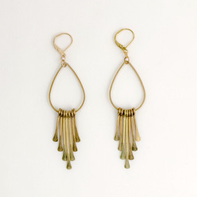 Paddle Pin Fringe Earring