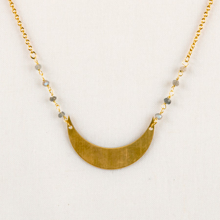 Labradorite and moon fair trade necklace