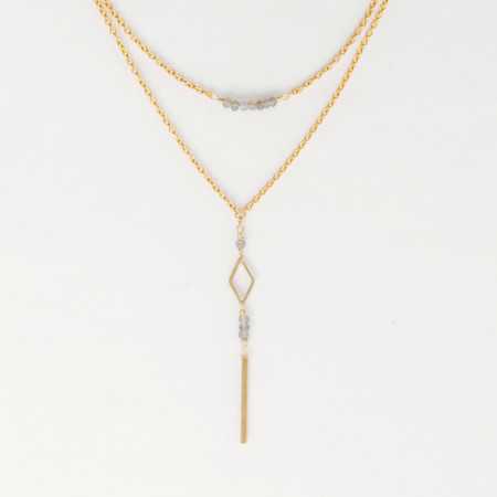 Labradorite lariat fair trade necklace