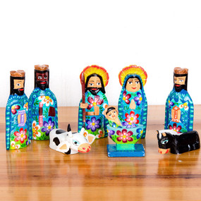 Wooden Nativity Brights